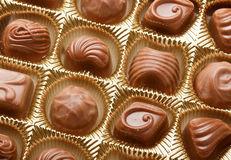 Chocolate sweets close up Stock Images