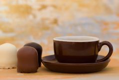 Chocolate Sweets and Coffee Royalty Free Stock Image