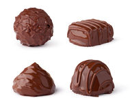 Chocolate sweets collection Royalty Free Stock Images