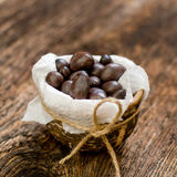 Chocolate sweets on the dish Royalty Free Stock Photo