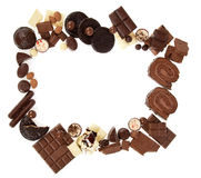 Chocolate sweets frame Stock Photography