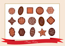 Chocolate sweets illustration Royalty Free Stock Images