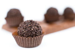 Chocolate sweets, macro Royalty Free Stock Photo