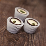 Chocolate sweets with pistachio Stock Photography