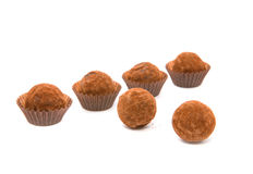 Chocolate sweets. A truffle Stock Photo
