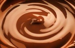 Chocolate swirl. Macro of a chocolate swirl - ful frame Stock Photography