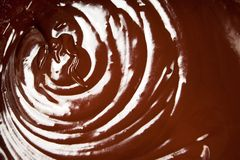 Chocolate swirl. Close up of melted chocolate swirl Stock Images