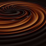 Chocolate swirl. Delicious dark chocolate or coffee swirl with space tor your text Royalty Free Stock Images