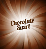 Chocolate swirl background Stock Images