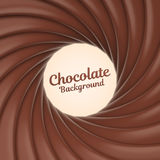 Chocolate swirl background with place for your content Stock Photo