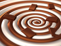 Chocolate swirl Stock Images