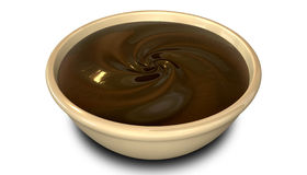 Chocolate Swirl In A  Bowl Stock Photos
