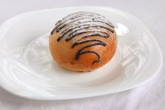 Chocolate swirl bun Royalty Free Stock Image