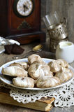 Chocolate swirl meringues. Stock Photography