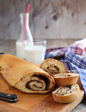 Chocolate swirl scone roll Stock Photo