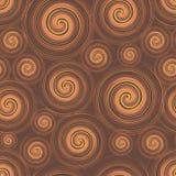 Chocolate swirl seamless pattern Stock Photo