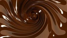 Chocolate swirl twirl Stock Images