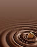 Chocolate swirl whit hazelnut Stock Photo
