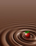 Chocolate swirl whit strawberry Stock Image