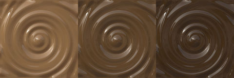 Chocolate Swirls Royalty Free Stock Photography