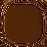 Chocolate Swirls Frame stock illustration