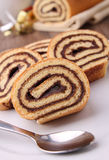 Chocolate swiss roll Stock Images