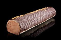 Chocolate Swiss roll Royalty Free Stock Photo