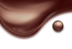 Chocolate symbol of yin yang Stock Photography