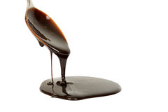 Chocolate syrup Stock Photo