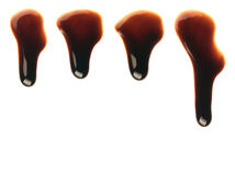Chocolate syrup drops Stock Photo