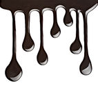 Chocolate syrup leaking Royalty Free Stock Image