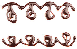 Chocolate syrup leaking Stock Photography