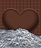 Chocolate table in aluminum stock image