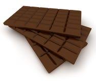 Chocolate tablet trio Stock Photos