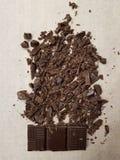 Chocolate tajado imágenes de archivo libres de regalías