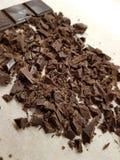 Chocolate tajado foto de archivo