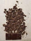 Chocolate tajado foto de archivo libre de regalías