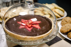 Chocolate tart Royalty Free Stock Photo