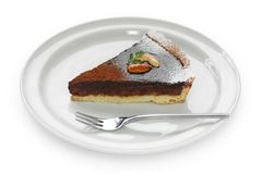 Chocolate tart cake Stock Image