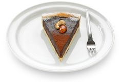 Chocolate tart cake Stock Photography