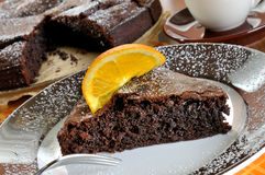 Chocolate tart cake Royalty Free Stock Photos