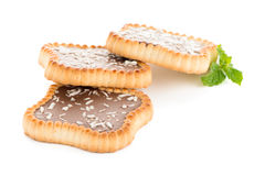 Chocolate tart cookies Stock Photography