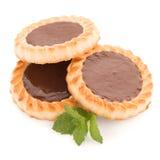 Chocolate tart cookies Stock Photography