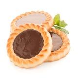 Chocolate tart cookies Royalty Free Stock Image