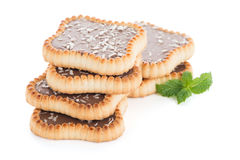 Chocolate tart cookies Royalty Free Stock Photography