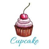 Chocolate tart cupcake icon Royalty Free Stock Photos