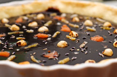Chocolate tart- detail Stock Photos