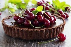 Chocolate tart Stock Image
