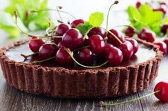 Chocolate tart Stock Images