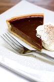 Chocolate tart gateaux Royalty Free Stock Photo